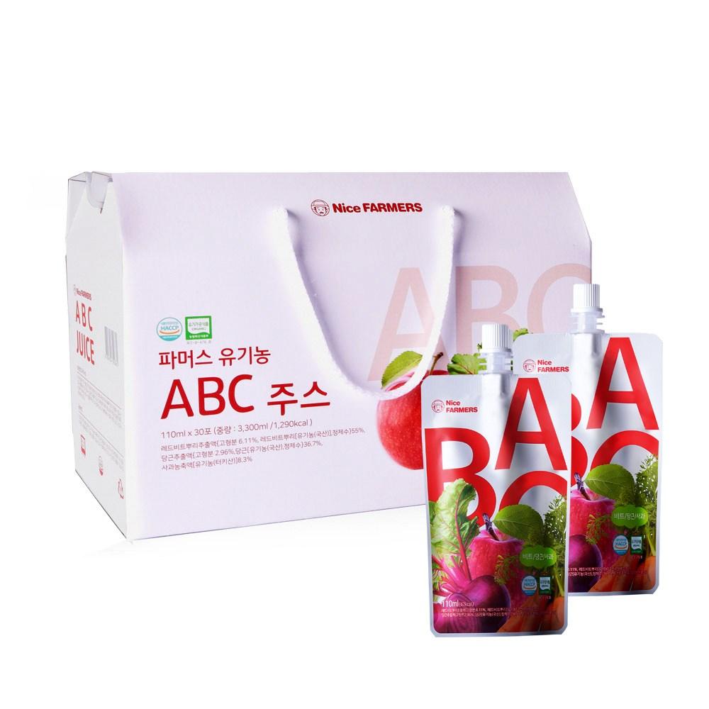 나이스파머스 액상 유기농 ABC주스 110ml 30포 선물포장, 1박스, 30개입