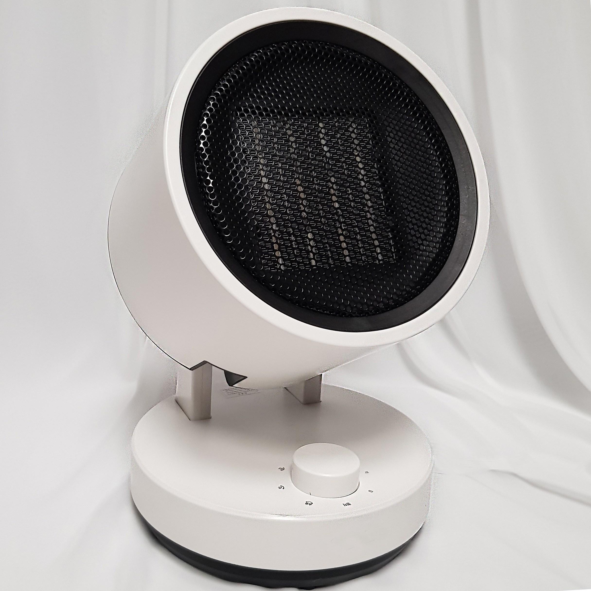 따숨숨 캠핑용 온풍기 가정용 히터 팬히터 PTC 전기 미니 원룸 아기 화장실 욕실 온열기, 화이트