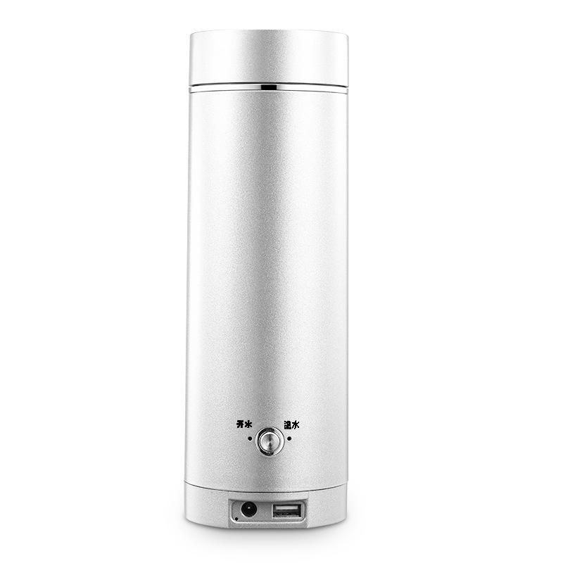 무선포트(USB/차량용)전열 물끓이는컵 여행 휴대용 무선 가열 물주전자 미니, T03-화이트