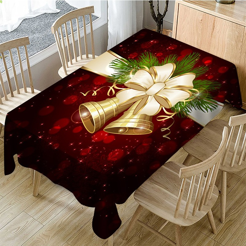 BAZA 크리스마스 데코 종 테이블 러너 식탁보 2종 1.4-3m, 150X300CM, 2번