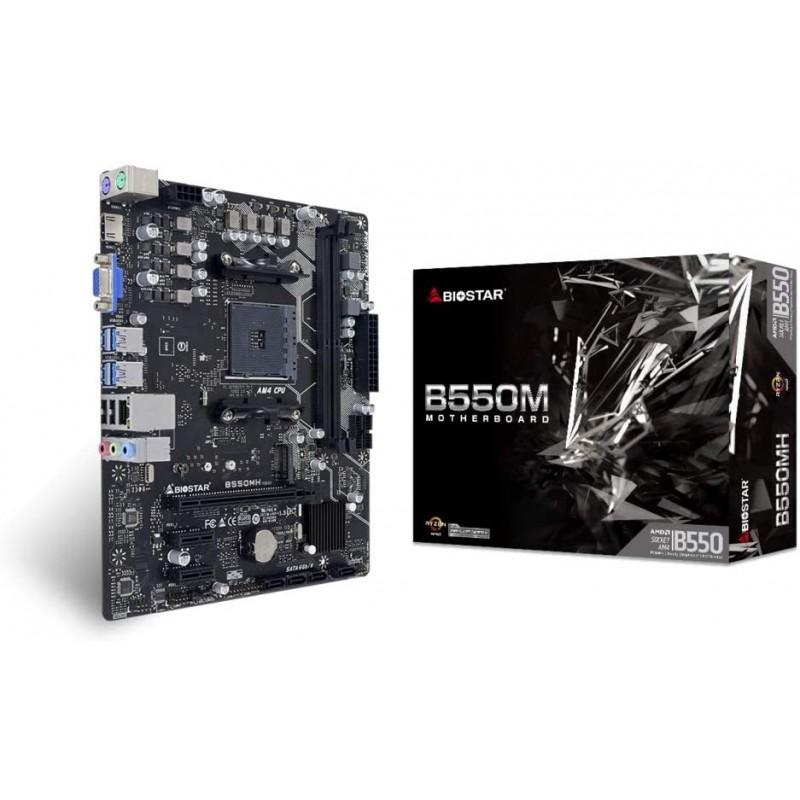 [해외] BIOSTAR B550칩 채용 Ryzen 제3세대 CPU대응 Micro-ATX주기판)[B550MH]Biostar메인 보드 통판, 단일옵션
