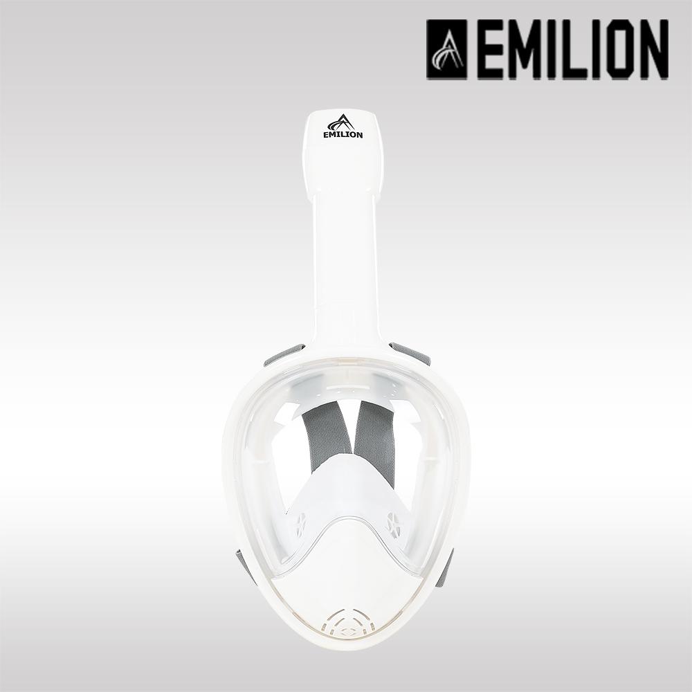 에밀리온 풀페이스 스노클링 마스크, NEW마린플러스 크림화이트 L/XL