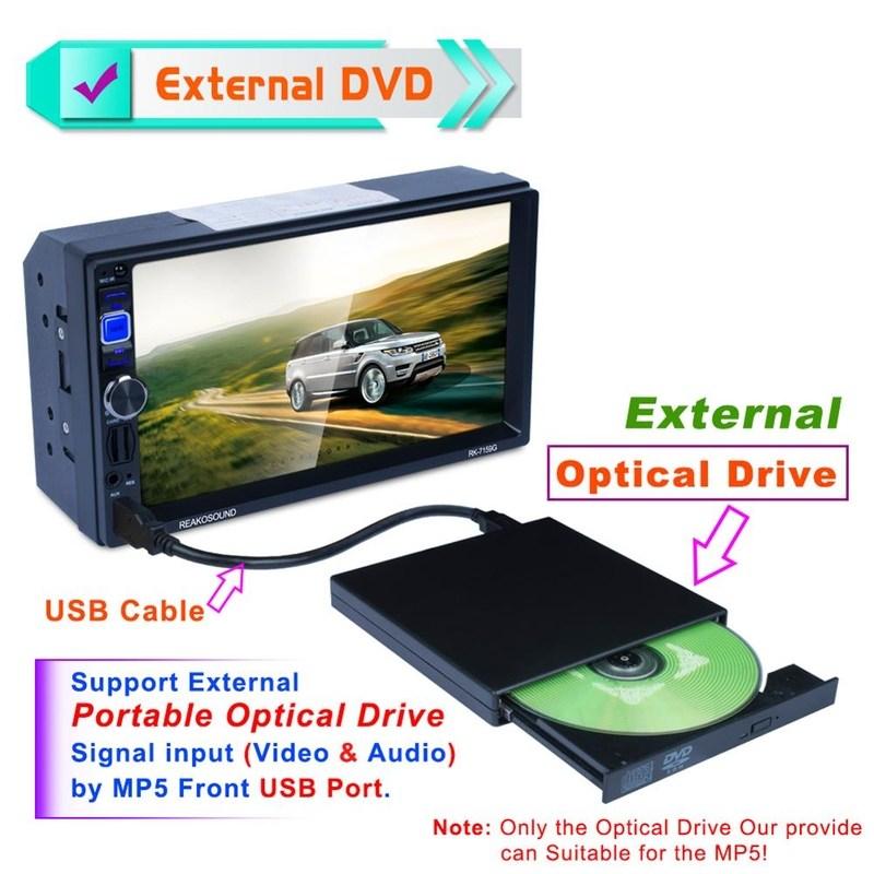 외부 ROM 광학 드라이브 USB 2.0 CD DVD-ROM CD-RW 플레이어 버너 슬림 휴대용 리더 레코더 Portatil 자동차 플레이어 (POP 5403935108)