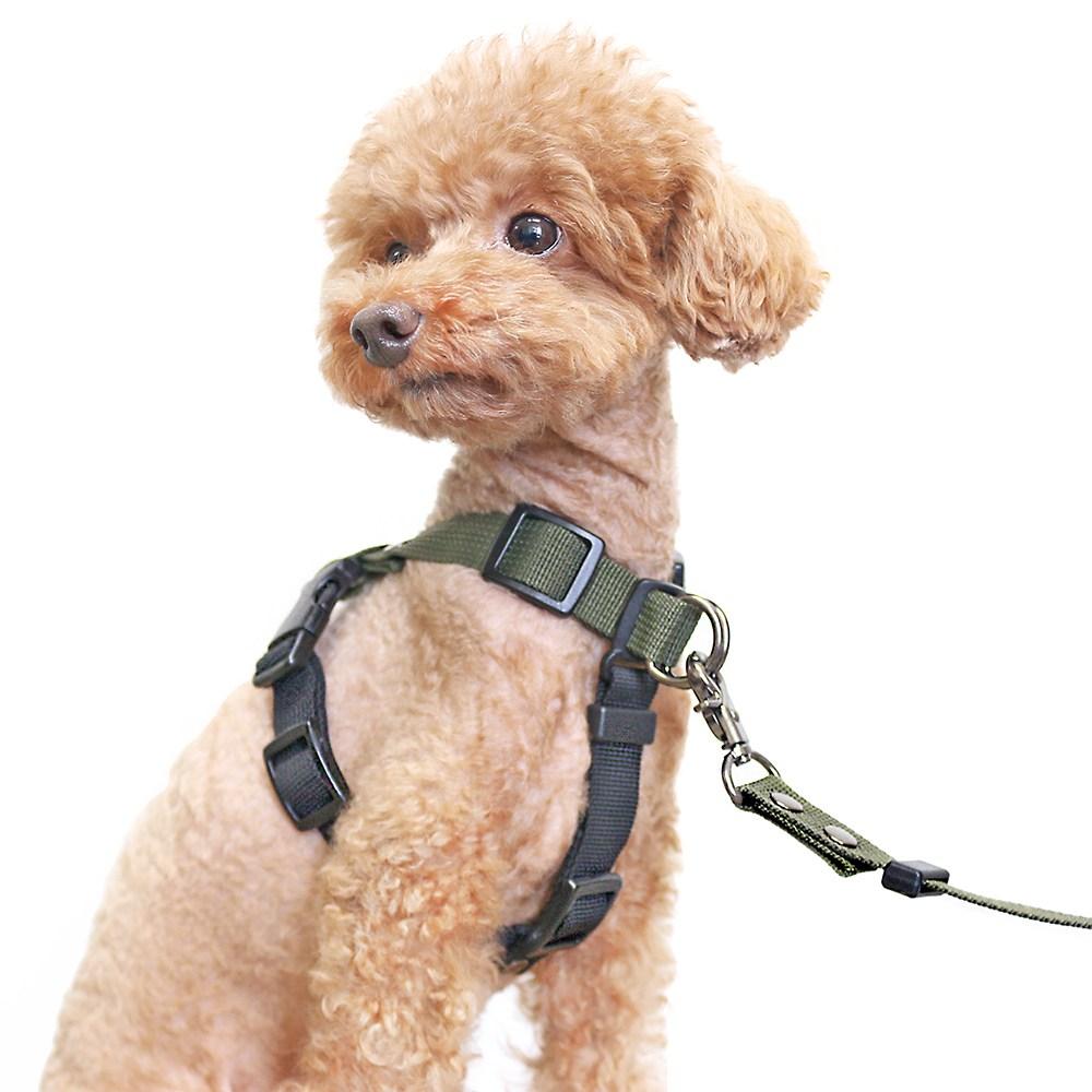 [패피퍼피] 강아지 하네스 앞고리 앞섬방지 이지워크 가슴줄 소형견 중형견 국산 L형 H형 몸줄, 블랙