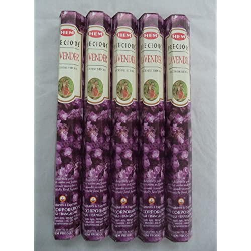 NMT Precious Lavender 100 Incense Sticks (5 x 20 Stick Packs) - P069400JKQWFGW2, 기본