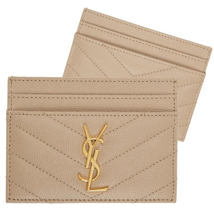 생로랑 YSL 모노그램 퀼팅 카드 지갑 금장 423291 BOW01 2721-4-5197933792
