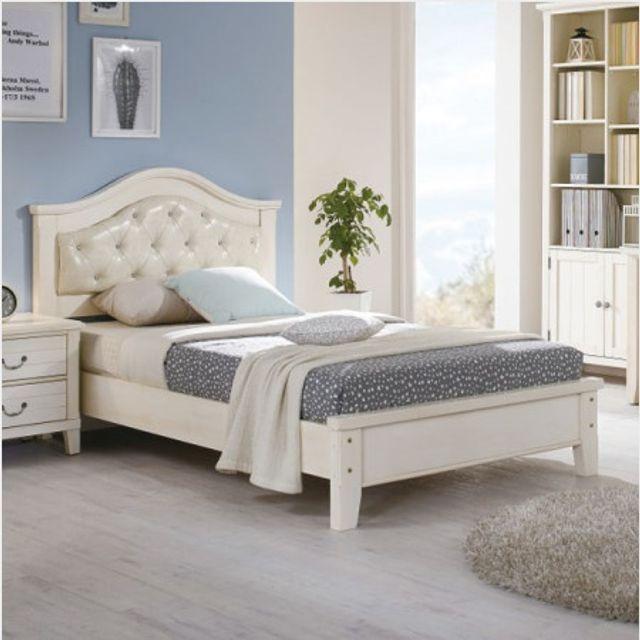 ksw58225 생활공간 화이트빈티지 슈퍼싱글 침대, 구매안함