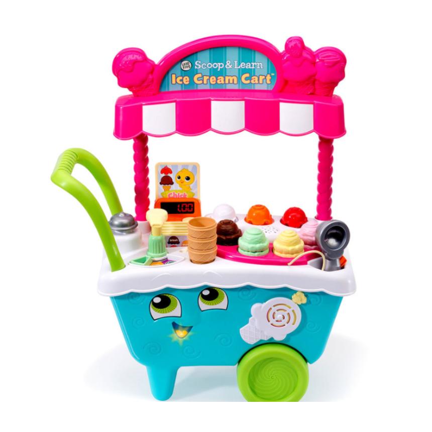 아이스크림카트 아기 유아 어린이 장난감 립프로그 가게놀이 세트