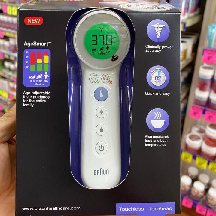 [브라운] 비접촉식 체온계 이마체온계 BNT400, 1개