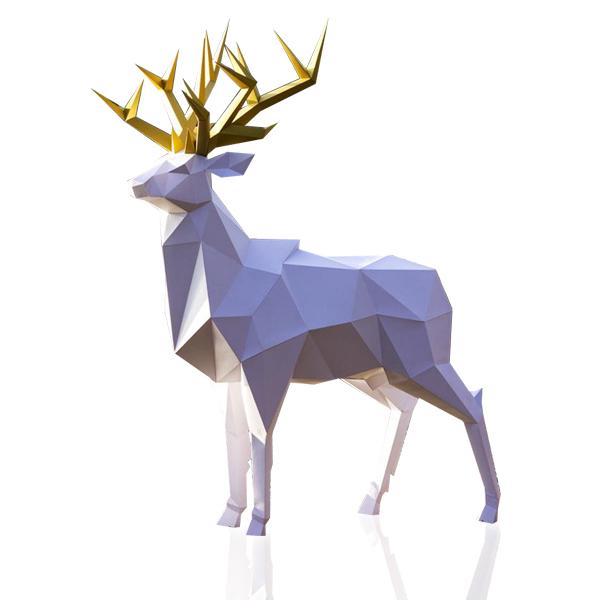 울트라패션 DIY 종이공예 페이퍼 크래프트 종이인형 페이퍼돌, 로얄 사슴