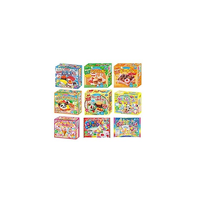 Kracie Popin Cookin 9 Item Bundle with Sushi Hamburger Bento Donuts Cake Shop and More, One Color, One Size