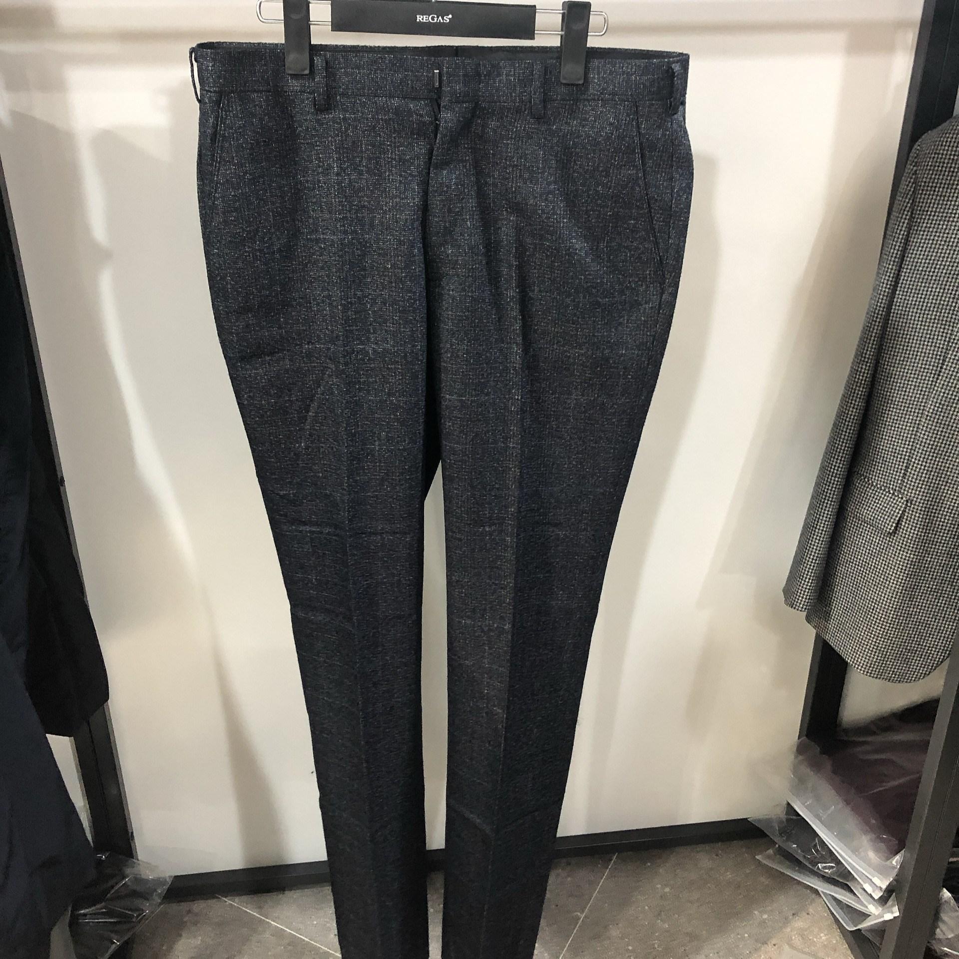 [행복한백화점][보스렌자]남성 기본라인 겨울용 정장팬츠 슬랙스 블루브라운체크 RAFSL1557