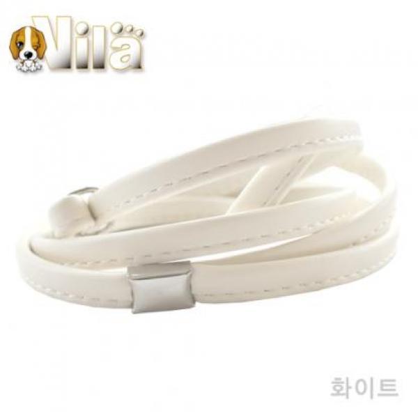 ksw45962 빌라 쇼독 가죽 쵸크리드줄 (PEK01-0848), 화이트