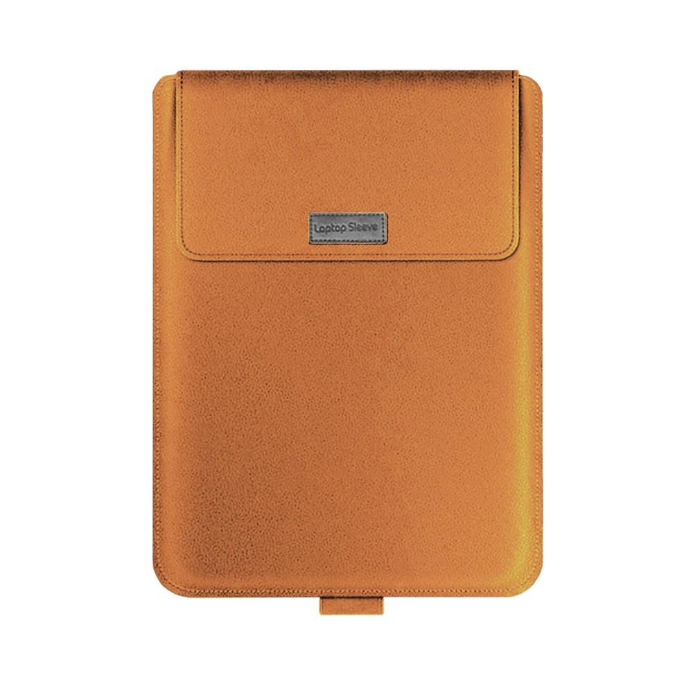 Laptop 슬리브 노트북 3in1슬리브 거치대 파우치 15.6인치 17인치, 브라운