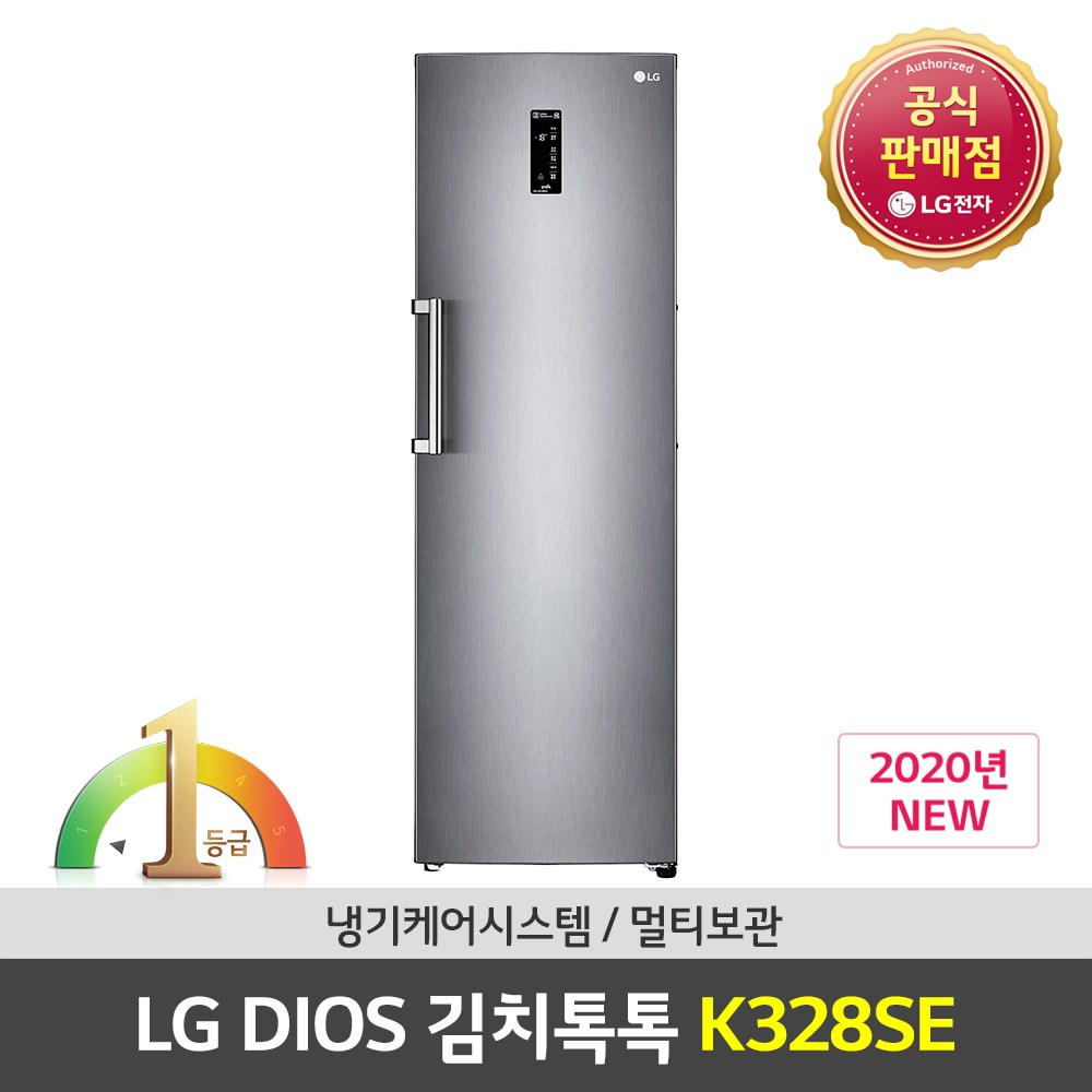 LG전자 공식판매점 (JS) 컨버터블 김치냉장고 K328SE 324L 실버 스탠드형