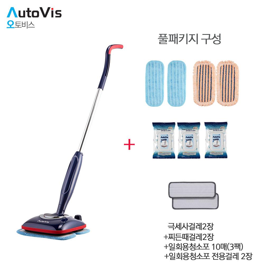 오토비스 (풀패키지행사)무선물걸레 청소기KAC-7100(네이비)