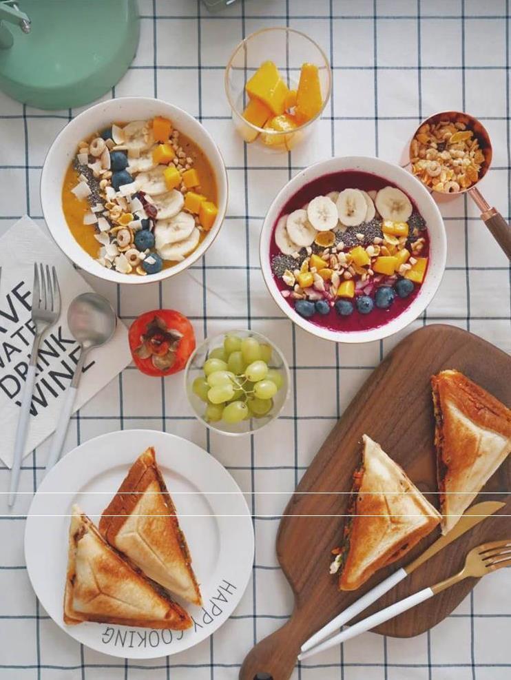 토스터기 와플 토스트 양면 제빵기 샌드위치기 편안한 아침기계 후라이팬 타이머, T04-블랙색