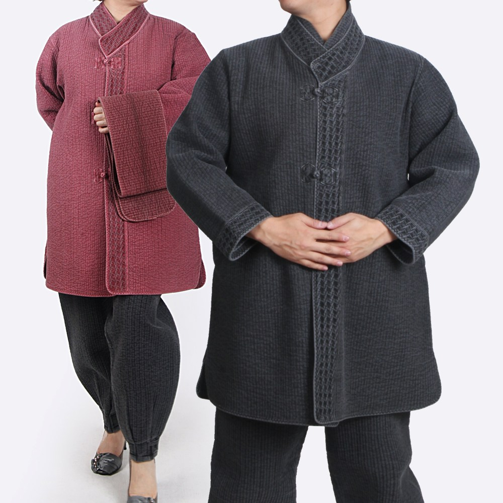 매듭우리옷 MC106 순면누빔 목화무늬 반두루마기