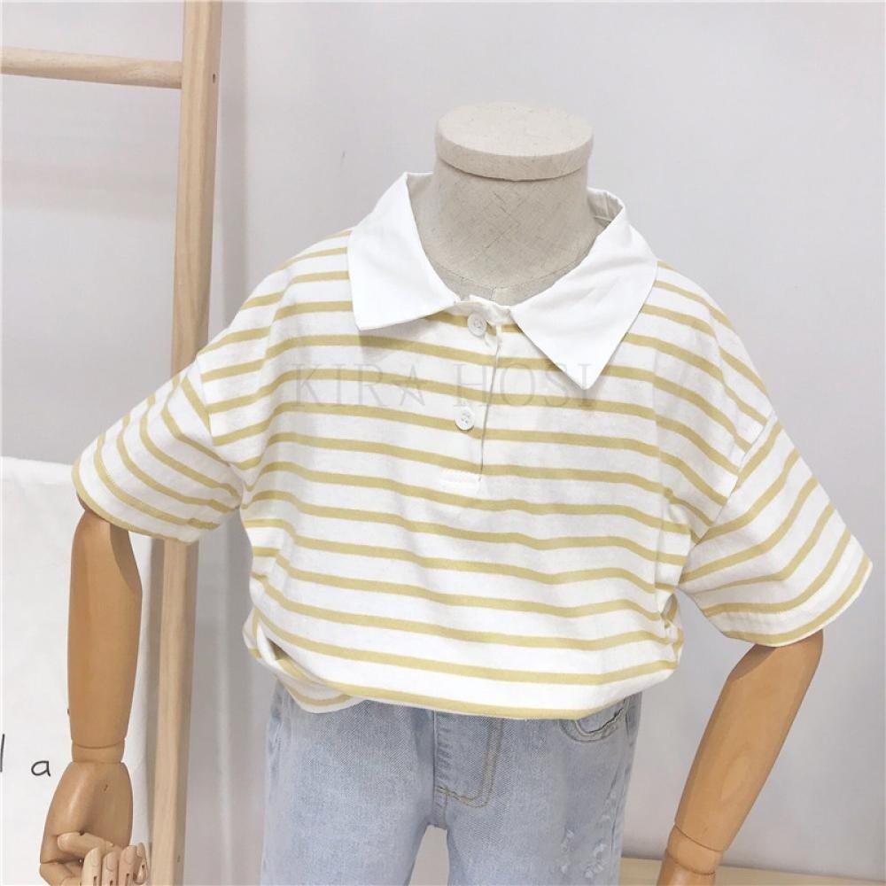 kirahosi 남아 반팔 티셔츠 아동복 여름 반팔 폴로 85호+ 덧신 증정 ANuorwea