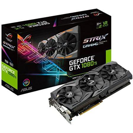 ASUS ROG STRIX GeForce GTX 1080 TI 11GB VR Ready 5K HD Gaming Graphics Card (ROG-STRIX-GTX1080TI-11, 상세 설명 참조0