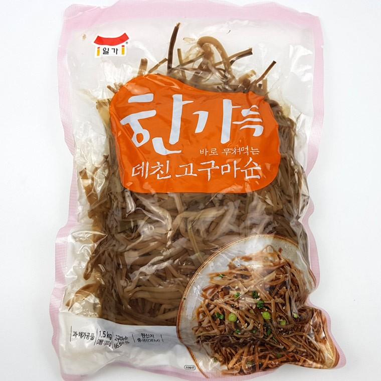 영 IN 일미 0063 한가득 데친고구마순 1.5kg 바로 무쳐먹는, 단품, 단품