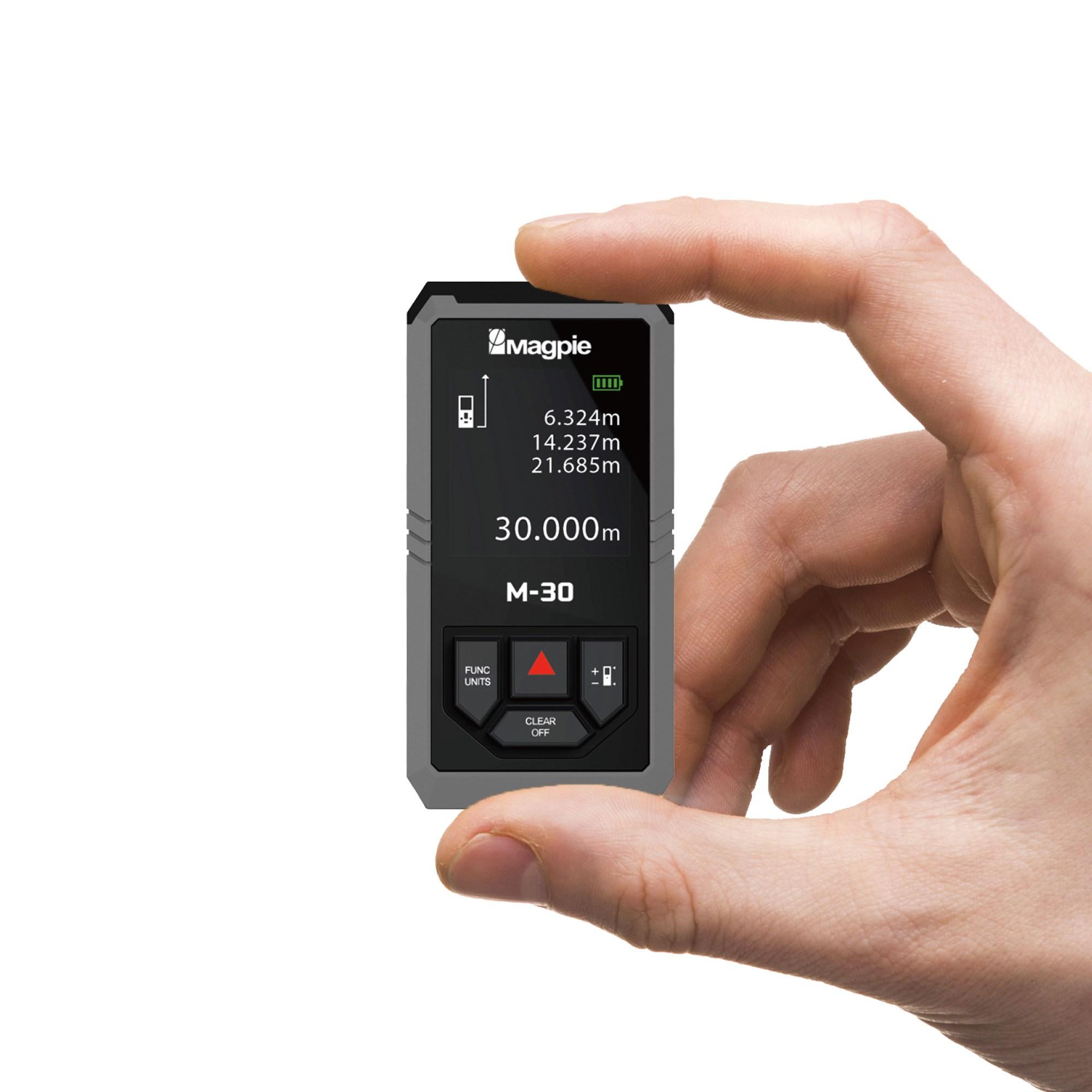 [국산] 맥파이 초소형 레이저 줄자 거리측정기 M-30