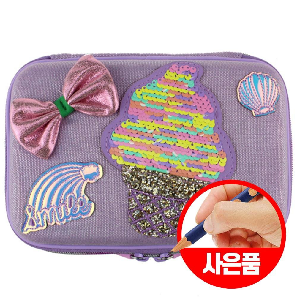 캐보트 강남필통 초등학생필통 어린이필통 일본필통 폴딩형 필통, 아이스크림스팽클