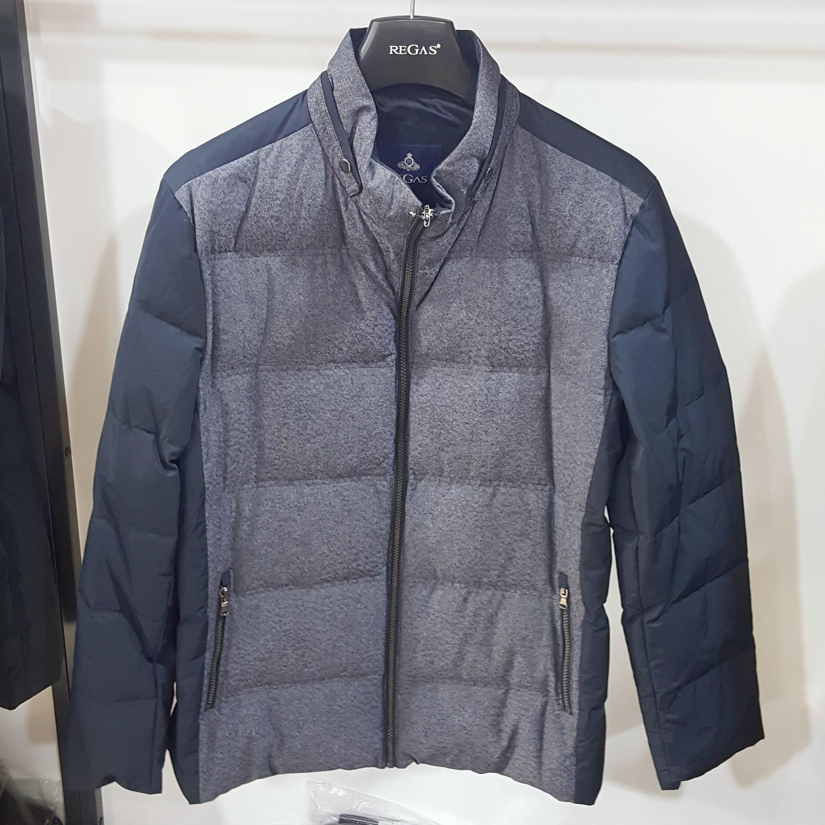 [행복한백화점][보스렌자]남성 기본라인 후드 오리털 다운 점퍼 네이비컬러 RFFHC8375
