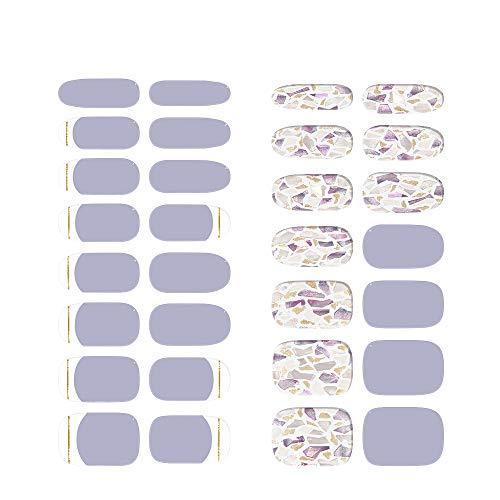 [아트 디자인] ohora 오호라 젤 네일 팁 네일 스티커 네일 파트 붙이는 것만 매니큐어 셀프 네일 つけ爪 30 피스 (N Ameth