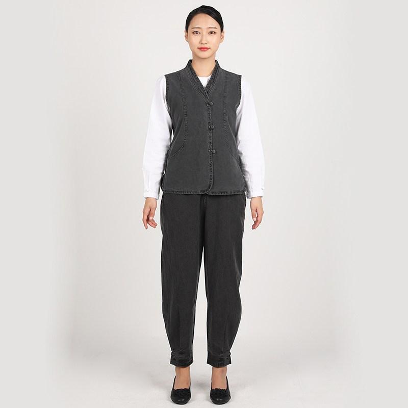 리예 피그먼트 20수 조끼 바지 생활한복