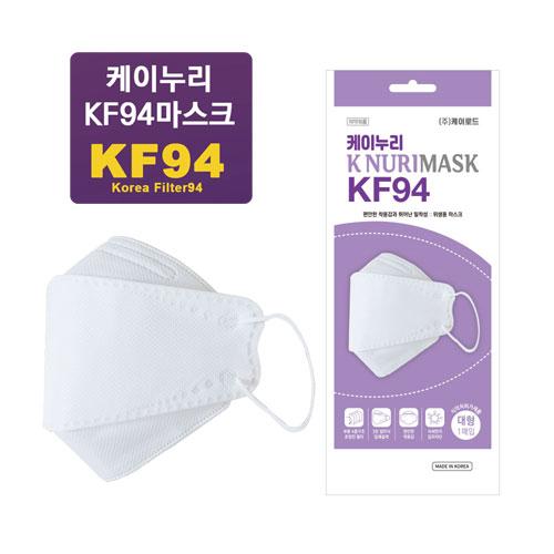케이누리 KF94 마스크 100매, 100매입