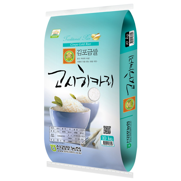 [한결물산] 2020년 햅쌀 신김포농협 특등급 김포금쌀 고시히카리, 1개, 10kg