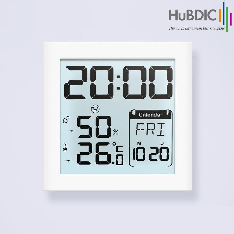 휴비딕 디지털 시계 온습도계 달력 알람 HT-5, 1개
