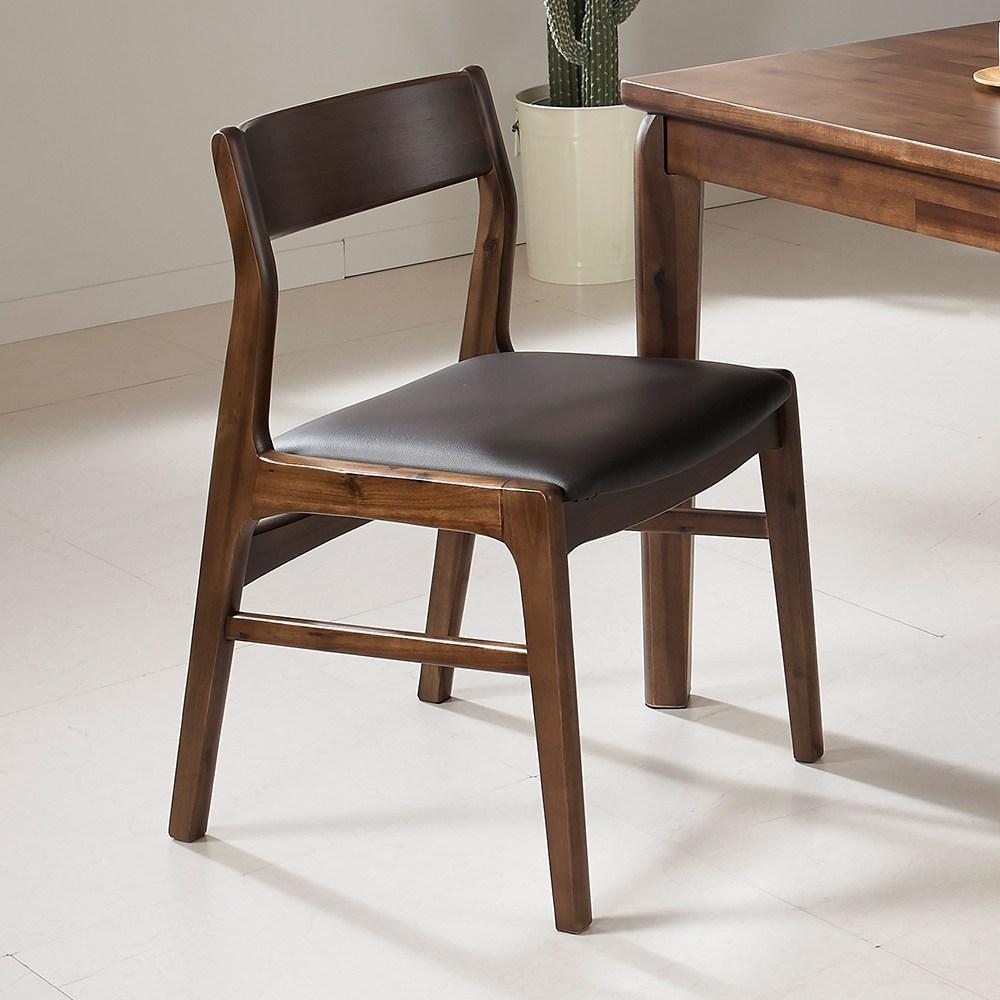 라로퍼니처 로렌 아카시아 원목 식탁의자 카페의자 인테리어의자, 단품