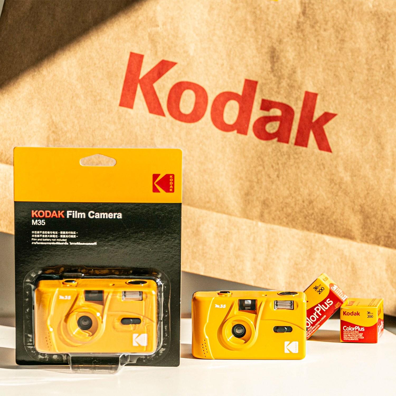 Kodak M35 코닥 필름 토이카메라 Purple + 컬러플러스 필름 200-36, M35 Yellow + 컬러플러스 필름