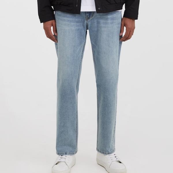 어드바이저리 Span Standard Fit Denim Pants - Light Blue