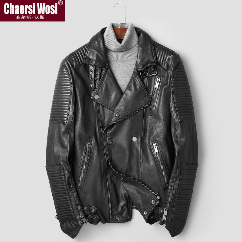 남자가죽자켓 헤드층 베지터블 양가죽 재킷 남성숏 오토바이 양복 턴오버카라 리얼가죽코트 남성의 외투
