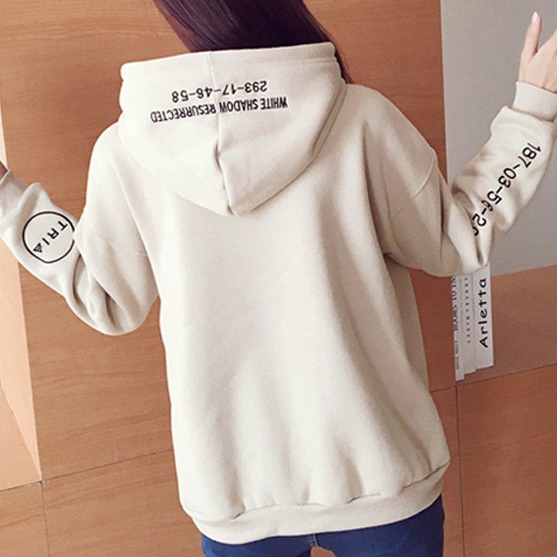 GB1004 여성 가을 겨울 긴팔 캐주얼 후드 티 셔츠 루즈 핏 맨투맨 FA237 후드티