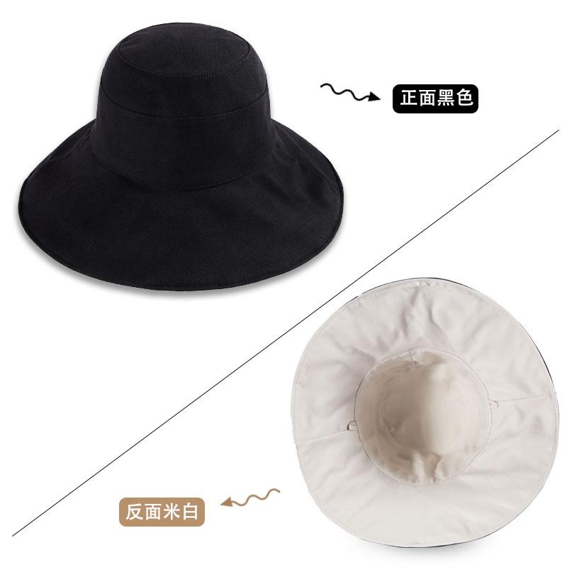 벙거지모자 일본 uv와이드챙 자외선차단 셀럽 양면 여성일본스타일