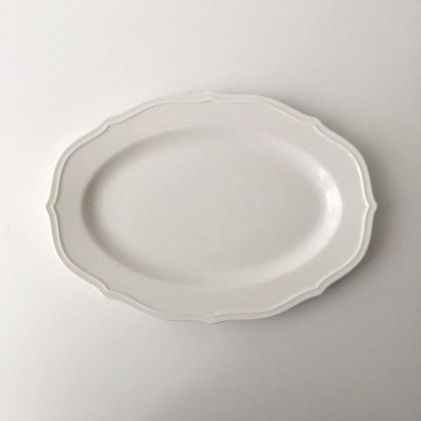 빈티지 레트로 심플 플레이트 카페 접시 그릇, AE 10인치
