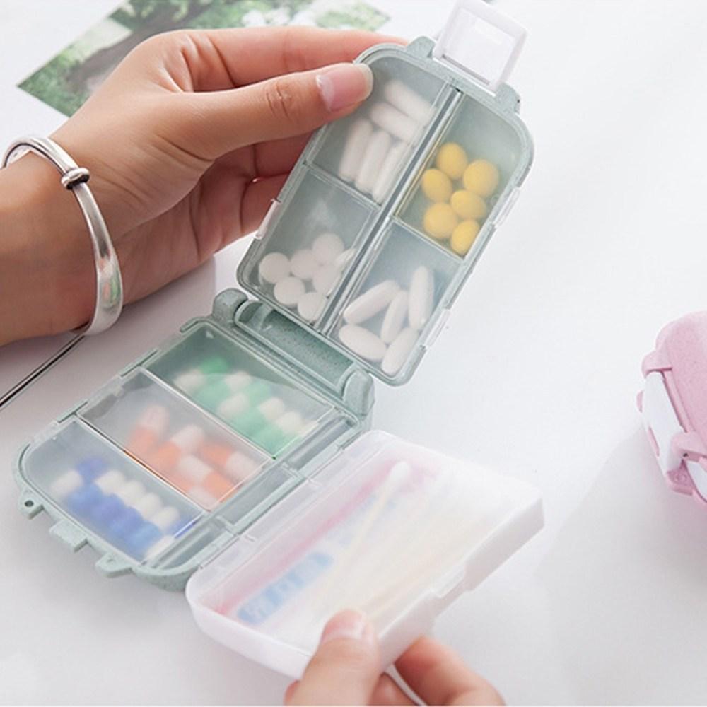 휴대용 다이소 약통 구급상자 구급함 아기 알약 케이스, 1개 파스텔 베이지 (POP 1910539406)