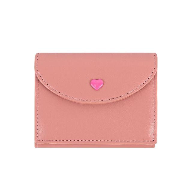 [천삼백케이] [라템] 러브 포엠 가죽 반지갑 핑크(AG2H9T04DAPP)