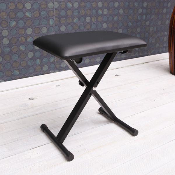 접이식 전자키보드 디지털피아노 신디사이저 의자, 블랙