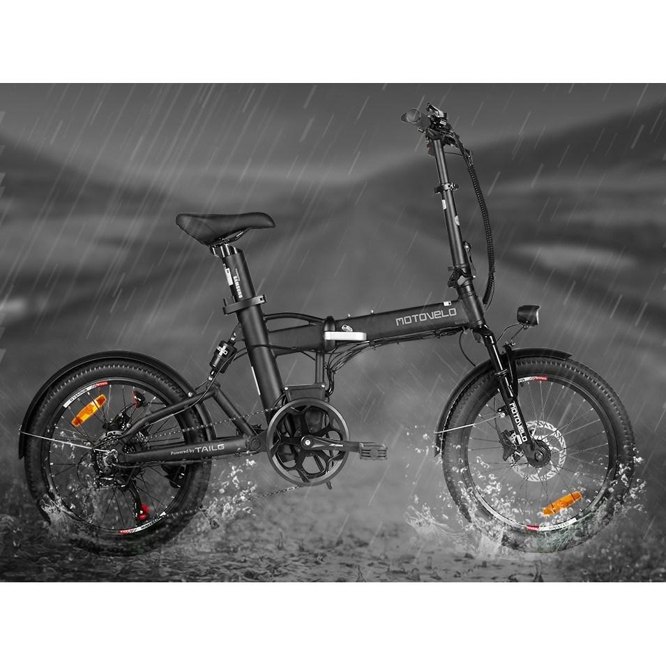 모토벨로 테일지 XT7 전기자전거(350W/17.5Ah), 원형스로틀 35000, 블랙