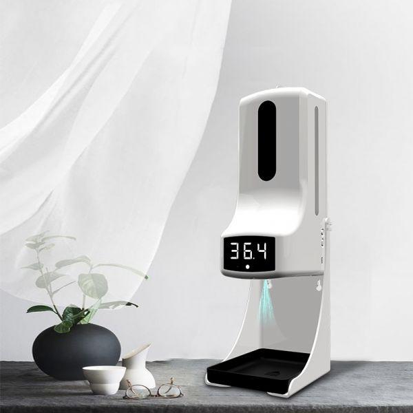 K9 PRO 비접촉 적외선 온도계 손소독기 디스펜서 자동 센서 손소독제, 화이트, 탁상용-27-5316871659