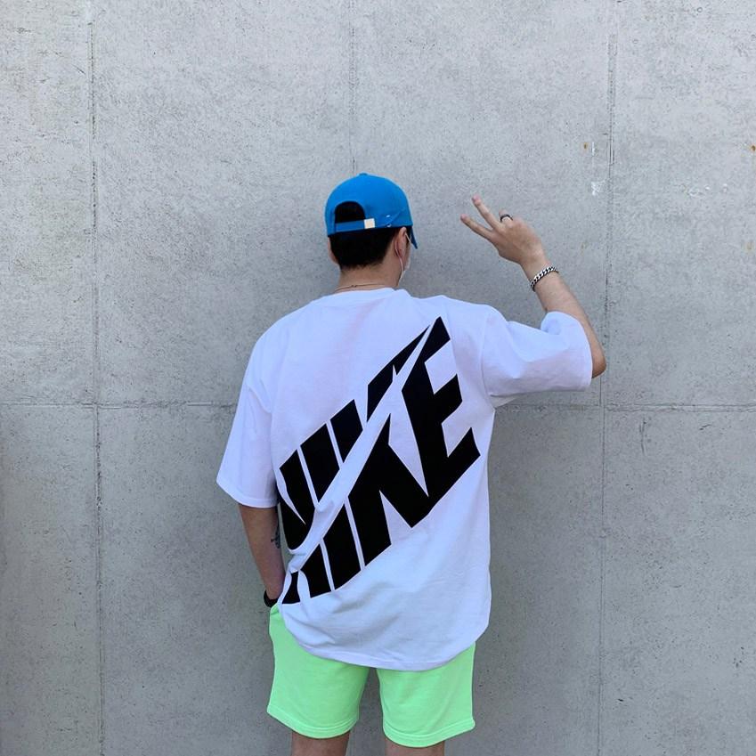 로그세븐 로고 사선 반팔티(8color) 반팔 티셔츠, 화이트