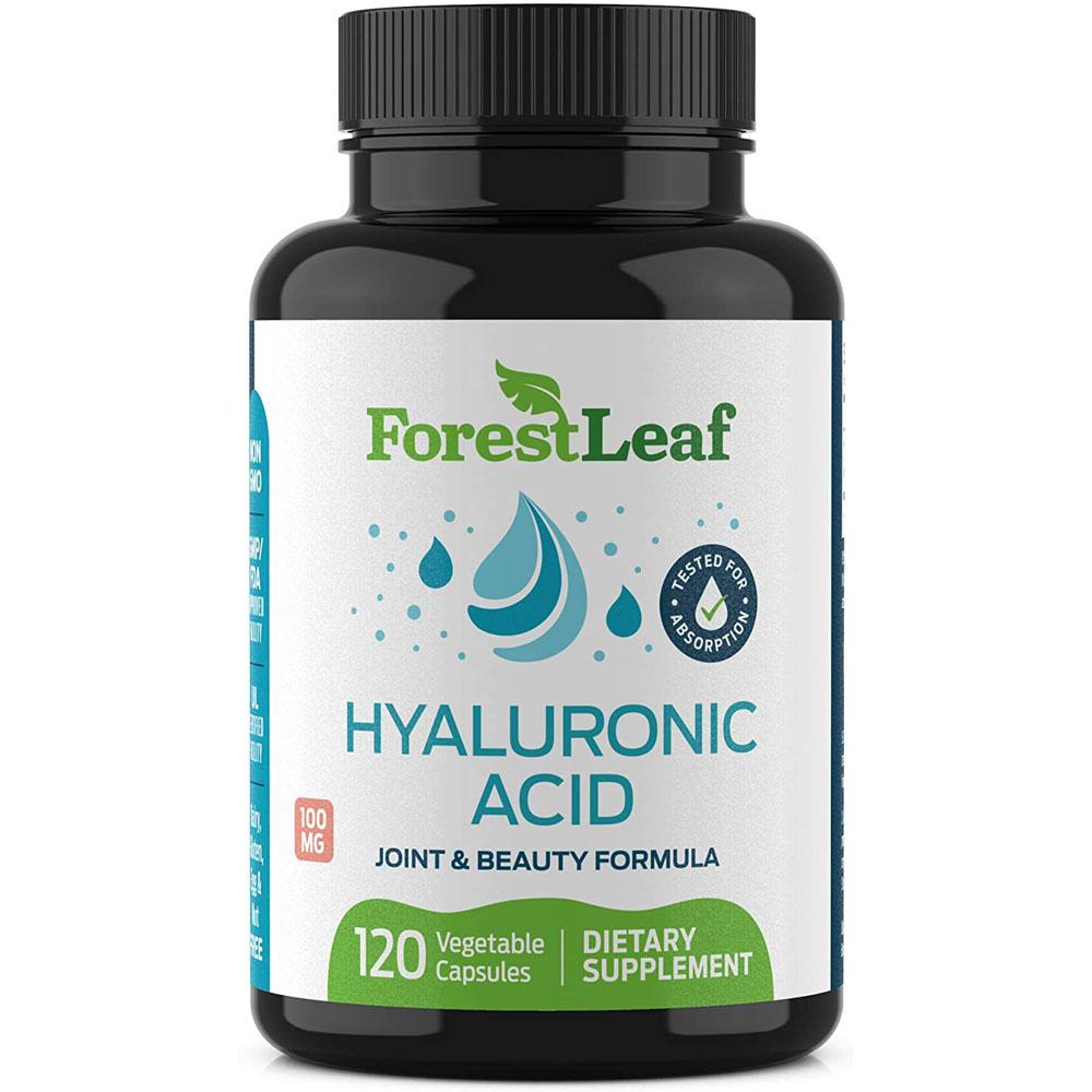 ForestLeaf Hyaluronic Acid 100mg 히알루론산 120정, 1팩