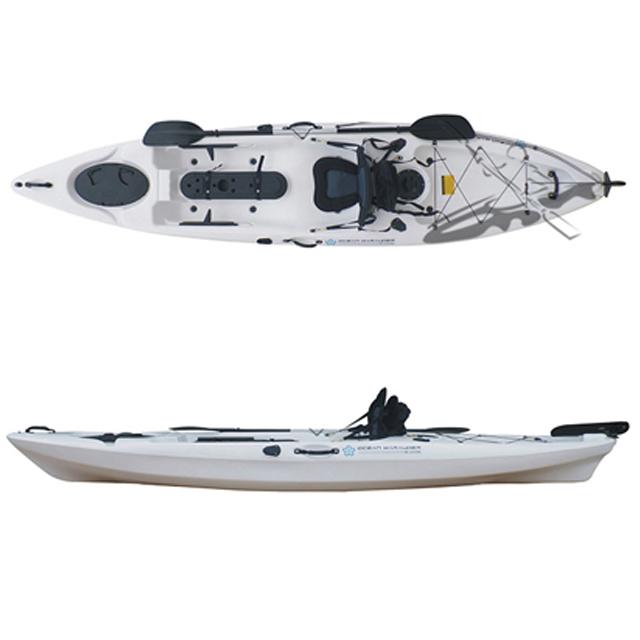 1인승 피싱 카약 레져용 보트 낚시카약 Kayak 카누 배, 옐로우