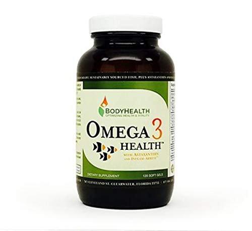 혈관에좋은영양제 수족냉증 혈행 개선 BodyHealth 오메가 3 건강 피시 오일 2개월 공급 120 소프트젤. 심장 뇌 시력 건강. 아스타잔틴 염증 지원 및 비타민 D3. 비, 단일수량, 단일개당 용량/중량/정