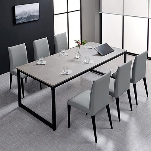 씨데코 원스텝 초대형 다용도 회의용 컴퓨터 식탁 교습용 테이블, 스톤그레이